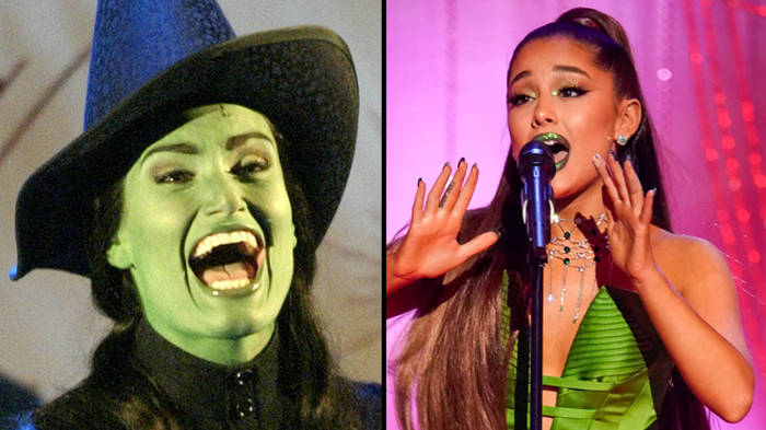 "Idina Menzel says Ariana Grande would be ""amazing"" as Elphaba in the Wicked movie"