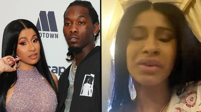 Cardi B addresses claims Offset cheated with Tekashi 69's girlfriend Jade after DMs leak