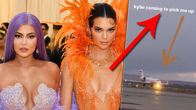 Kylie and Kendall Jenner are being called out for taking a private jet to 'meet for dinner'