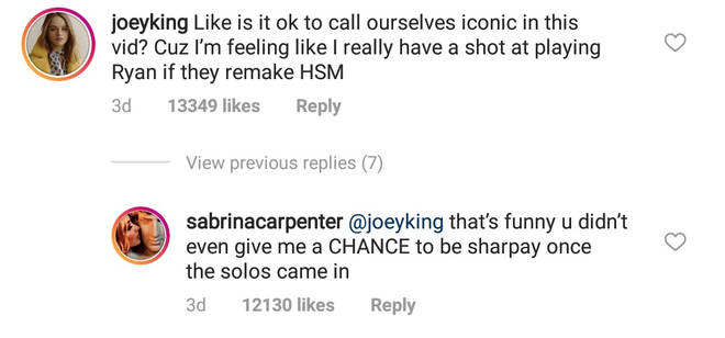 Joey King Instagram comment