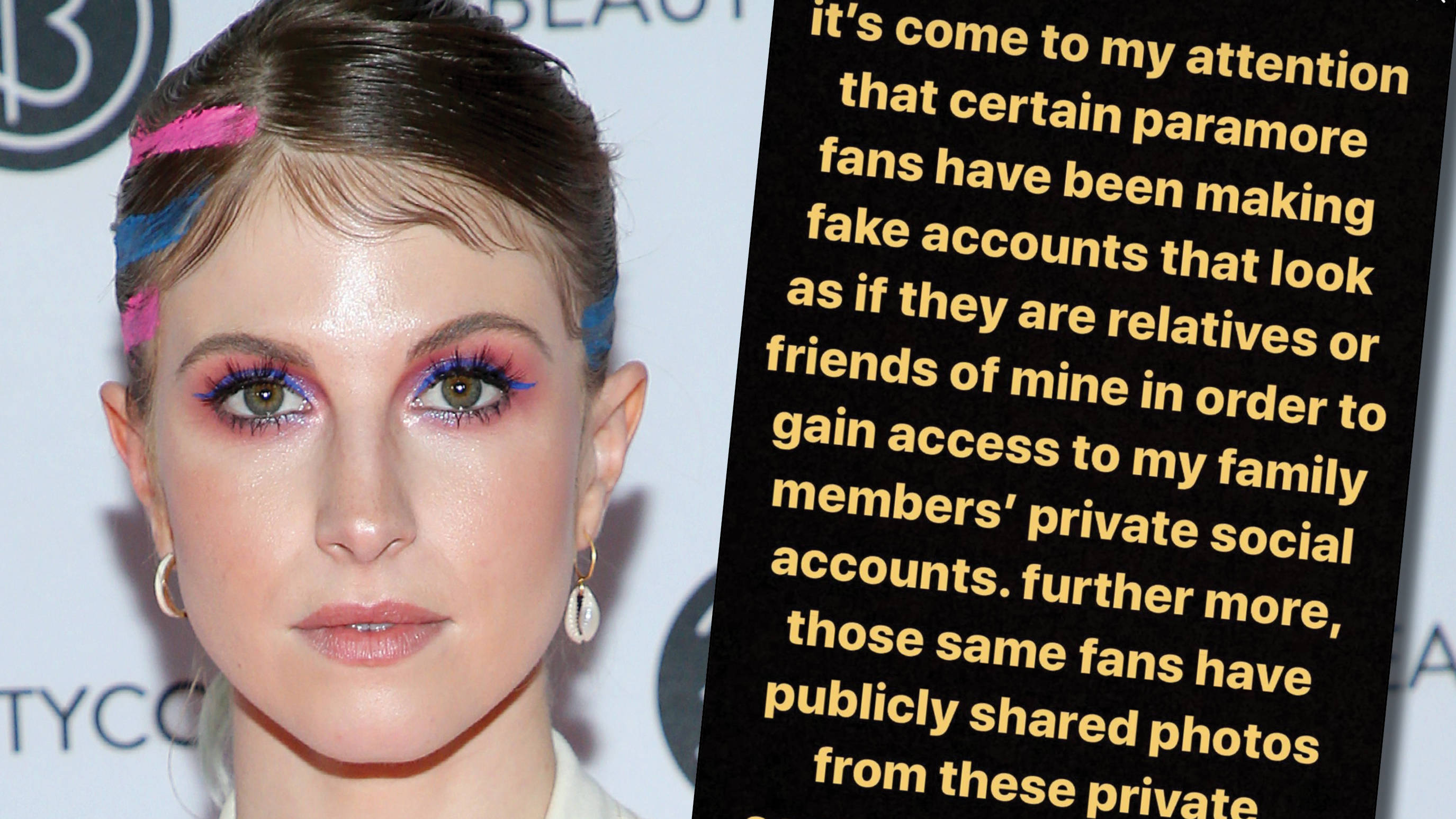 Hayley Williams calls out Paramore fans who made fake profiles pretending to be her family