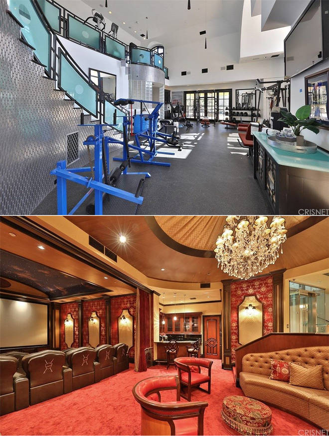 Jeffree Star's new house boasts a two-floor gym and a screening room with bar