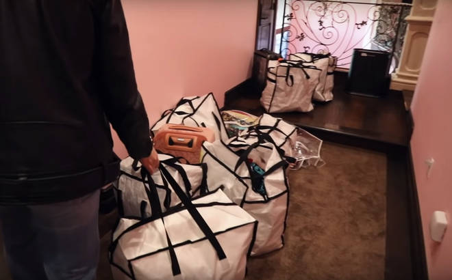 Bags and bags of Jeffree Star's designer clothes are set to be sold