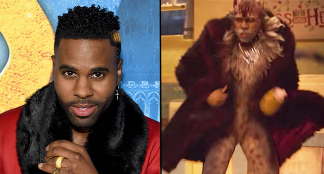 Jason Derulo attends The World Premiere of Cats, presented by Universal Pictures, as Rum Tum Tugger.