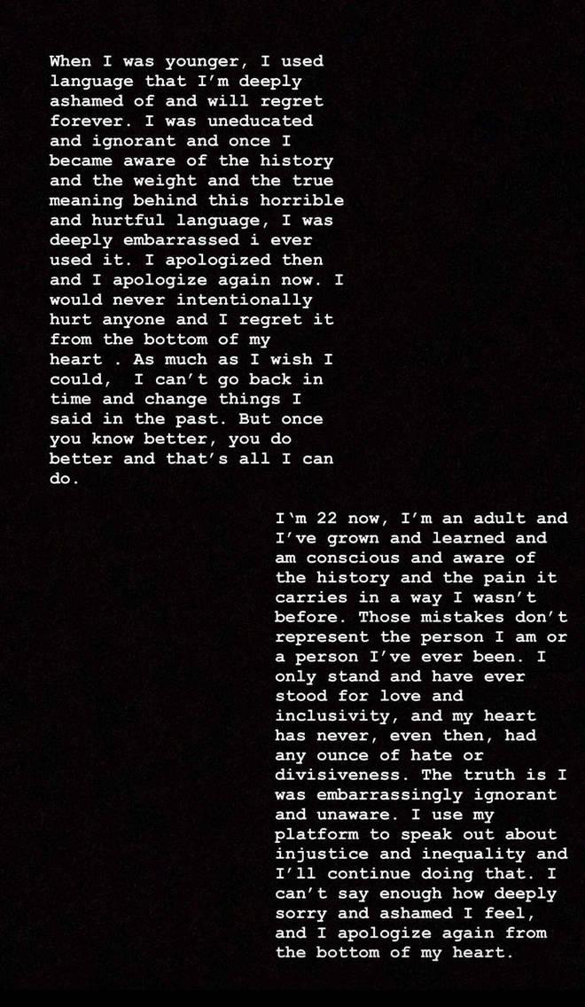 Camila Cabello apology