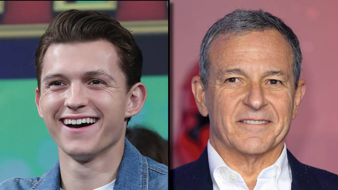 Tom Holland and Disney Boss Bob Iger
