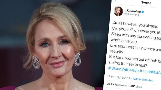 J.K. Rowling slammed for transphobic comments defending Maya Forstater