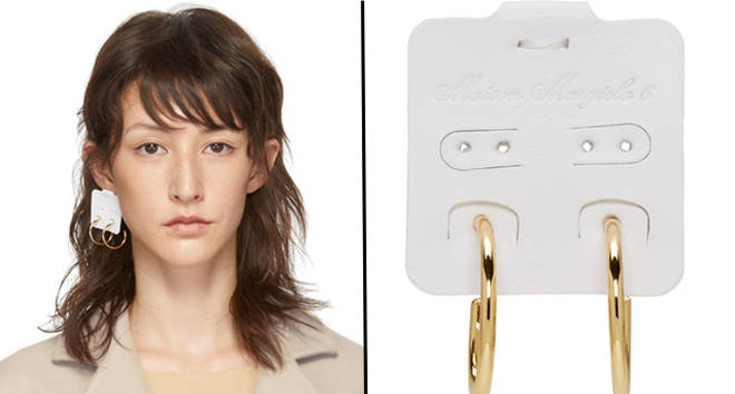Maison Margiela tag earrings