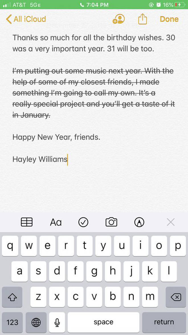 Hayley Williams announces 2020 solo project