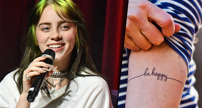 Billie Eilish, Be Happy tattoo