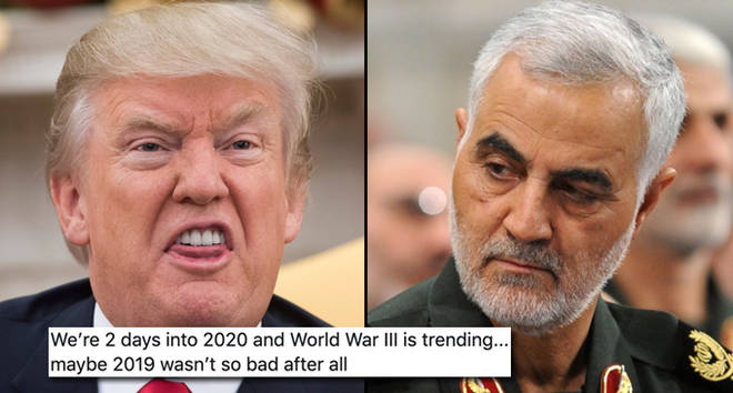 President Donald Trump and Qassem Soleimani