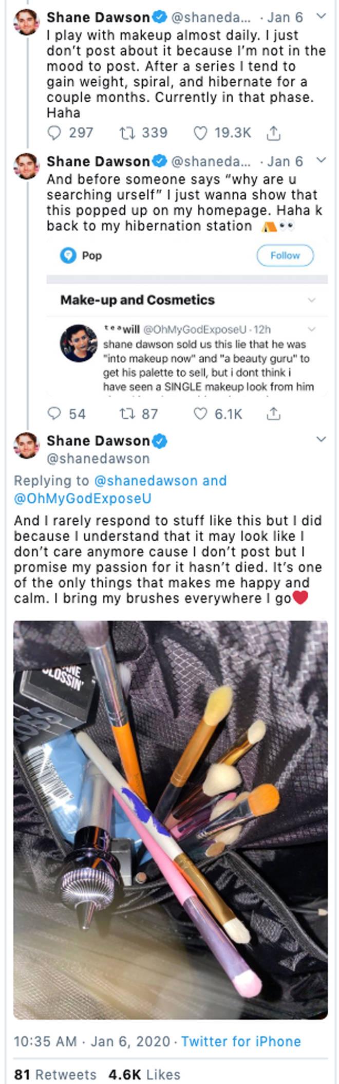 Shane Dawson Tweets