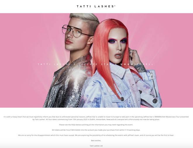 Tatti Lashes Website
