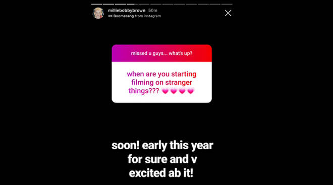 """Millie Bobby Brown confirms Stranger Things 4 filming starts """"early this year"""""""