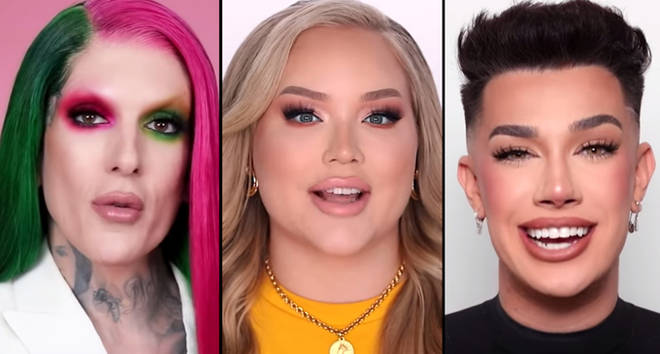 Jeffree Star, James Charles and NikkieTutorials on YouTube