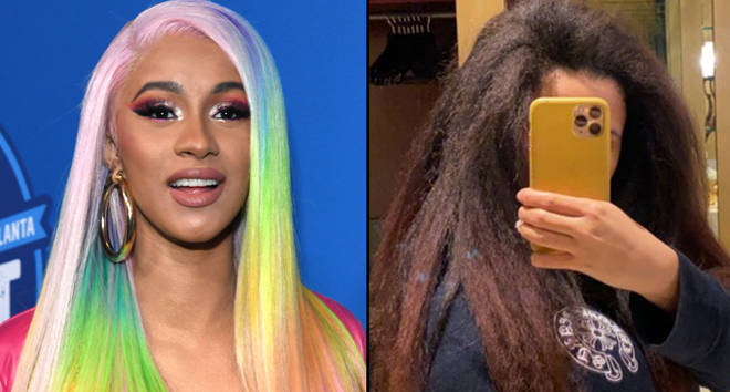 Cardi B Natural Hair