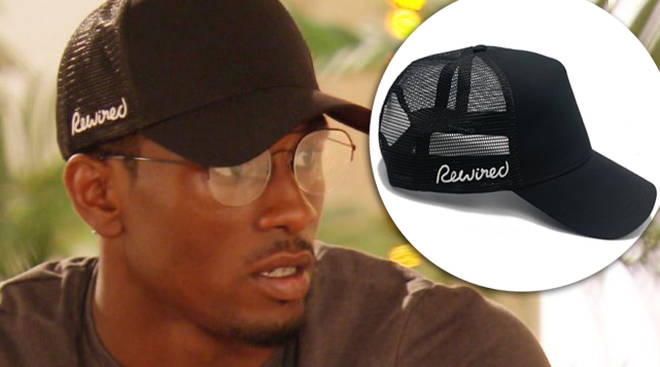 Love Island' Ovie wears 'Rewired' trucker cap