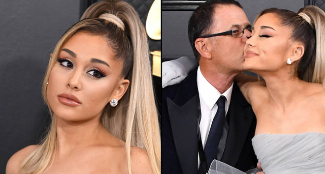 Ariana Grande and father Edward Butera attend the 62nd Annual GRAMMY Awards.