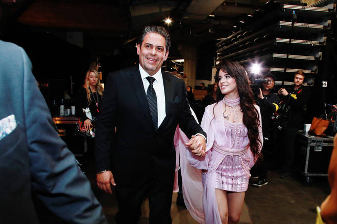 Alejandro Cabello and Camila Cabello attend the 62nd Annual GRAMMY Awards