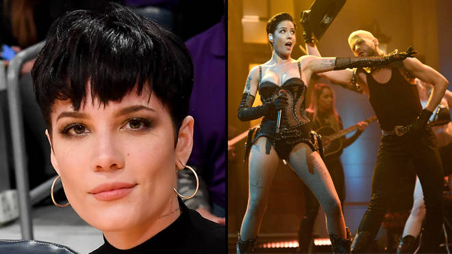 Halsey claps back at people telling her to wear more clothes on SNL