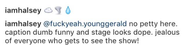 Halsey comment
