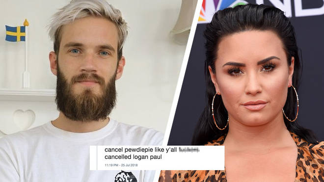 PewDiePie receives backlash after sharing Demi Lovato meme