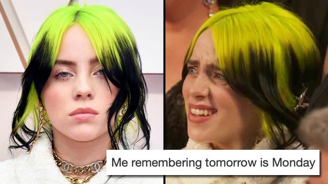 The funniest Billie Eilish reaction memes from the Oscars