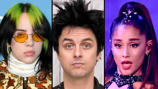 Green Day S Billie Joe Armstrong Says Ariana Grande Isn T A Real Artist Like Popbuzz