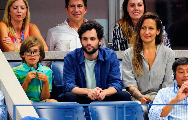 Cassius Kirke, Penn Badgley and Domino Kirke attend the 2019 US Open Tennis Championships