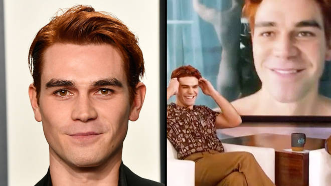 KJ Apa goes nude and shows off his naked ass on Ellen