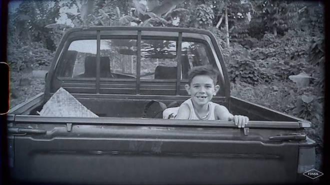 KJ Apa childhood photo fossil