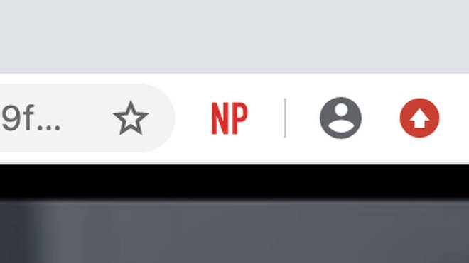 The button will stay in the top right hand corner of your screen, and when you select a show on Netflix, it will light up red.