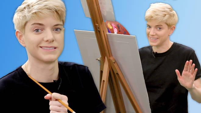 Mae Martin paints a self portrait in Portrait Mode