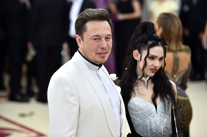 Grimes and Elon Musk at the Met Gala in May 2018
