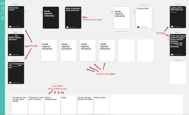 How to play Cards Against Humanity online for free