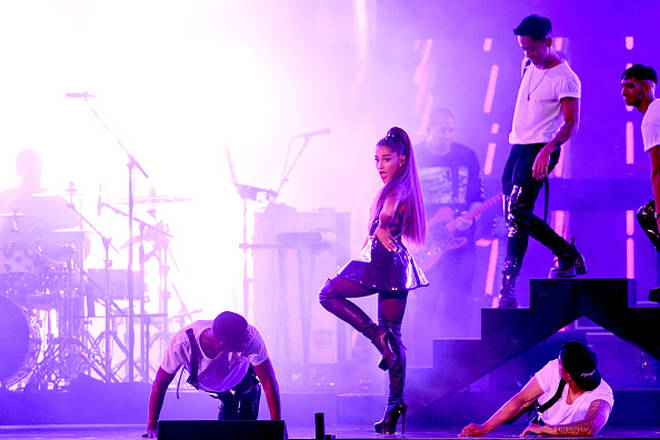 Ariana Grande performs onstage during the 2018 iHeartRadio Wango Tango
