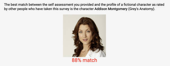 The openpsychometrics test will reveal which character you're most like