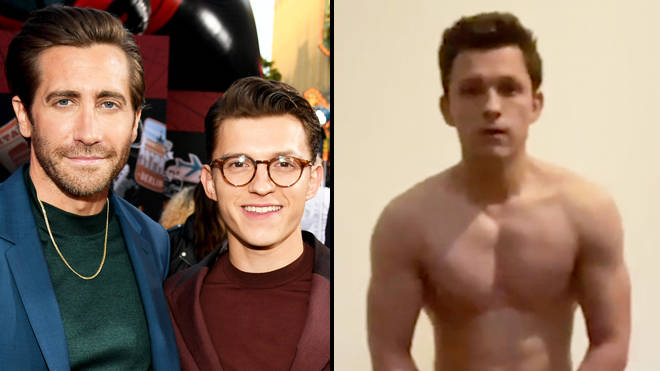 Tom Holland gets beaten by Jake Gyllenhaal in hilarious impossible t-shirt challenge