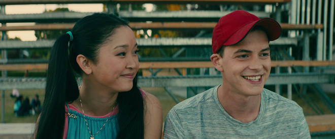 Lara Jean Covey and Josh