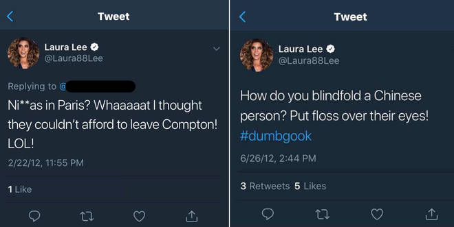 Lee's racist tweets, which have since been deleted