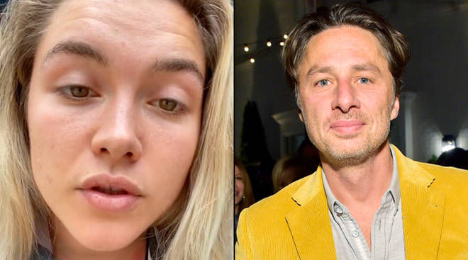 Florence Pugh defends relationship with Zach Braff from fans on Instagram