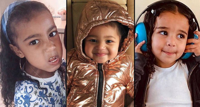North West, Stormi Webster and Dream Kardashian