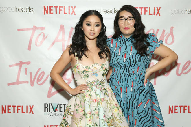 Lana Condor and Jenny Han