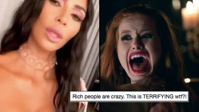 Kim Kardashian Shocks Fans With A  Human Skin Necklace - PopBuzz