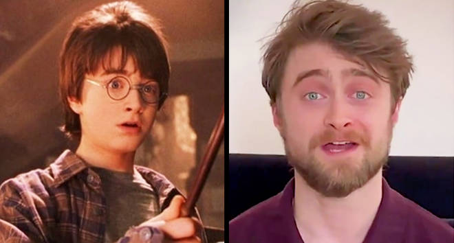 Daniel Radcliffe reading Harry Potter and the Philosopher's Stone