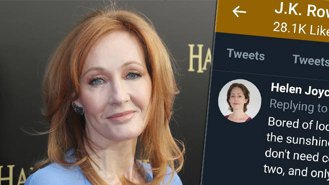 JK Rowling is being called out for liking transphobic tweets on Twitter