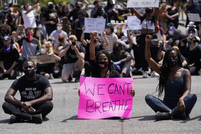 Black Lives Matter Holds Protest In Los Angeles After Death Of George Floyd