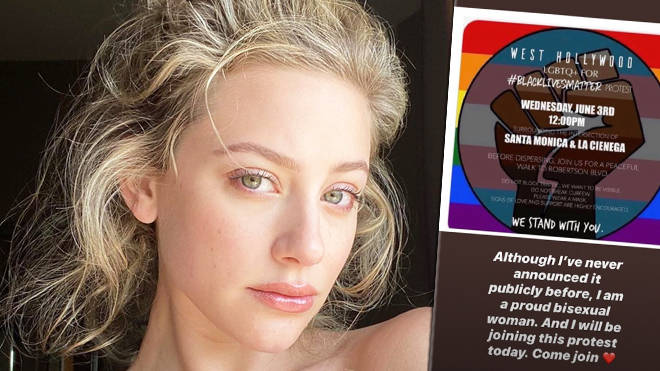 Lili Reinhart comes out as bisexual in post about LGBTTQ+ Black Lives Matter protest