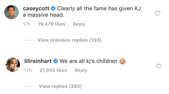 Casey Cott Lili Reinhart Instagram Comments