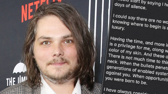 """Gerard Way calls on white people to be """"non-performative"""" allies to black people"""